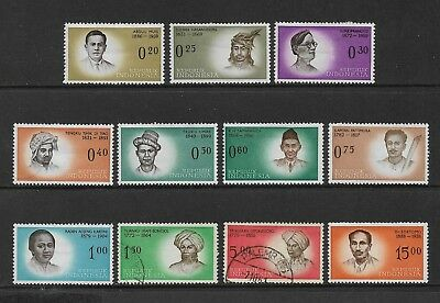 INDONESIA - 1961 Heroes of Independence, MH & used