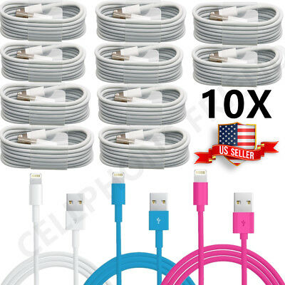 1-10 Pcs For Apple iPhone 7 Plus 6S 5 USB Charger Cable Charging Data Sync Cord