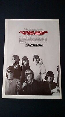 "Jefferson Airplane ""my Best Friend"" (1967) Rare Original Print Promo Poster Ad"
