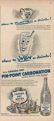 1950 Canada Dry Water Club Soda How To Flatten Liven A Drink Vintage 1950s Ad