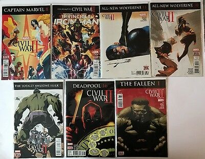 Large Lot Of Marvel Civil War 2 Comics
