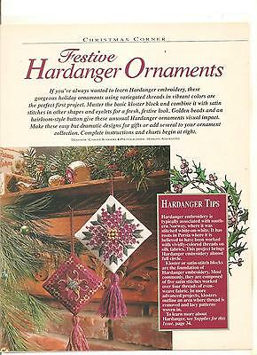 """Charts For 2 """"festive Hardanger Ornaments"""" (Please Read)"""