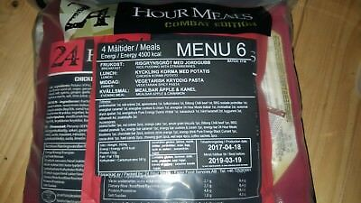 Swedish Army Menu #6 - 24hr 4 Course Combat Ration - Hard to get ration!