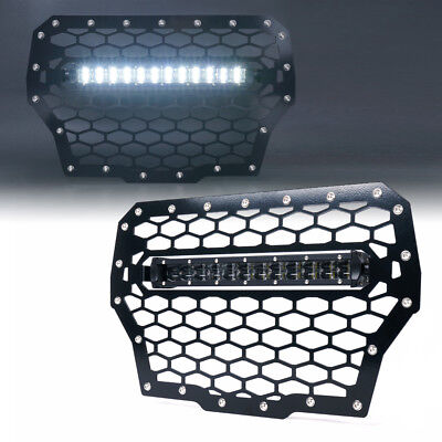 "LED Light Bar Mounted Steel Grille Insert 14"" 2017+ Polaris RZR Turbo 1000 XP"