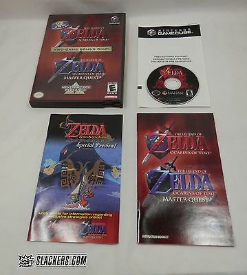 THE LEGEND OF ZELDA Ocarina of Time + Master Quest (Nintendo GameCube) COMPLETE!