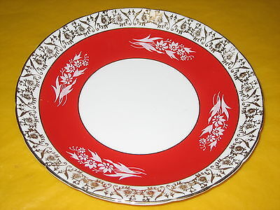 Hm Royal Sutherland Red/gold Luster Tea/side Plates    (0.2/28)