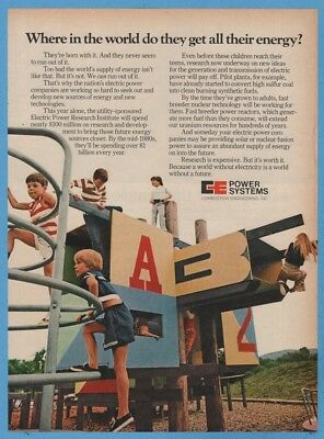 1974 CE Power Systems Combustion Engineering Children Playground Photo Ad