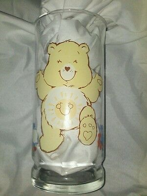 1983 Care Bears funshine BEAR PIZZA HUT American Greetings GLASS LOVE