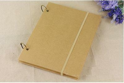 2 Ring Hard Cover 80 Pg Kraft DIY Scrapbook Sketchbook Wedding Anniversary Party