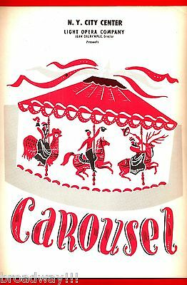 "Barbara Cook ""CAROUSEL"" Howard Keel / Rodgers & Hammerstein '57 Souvenir Program"