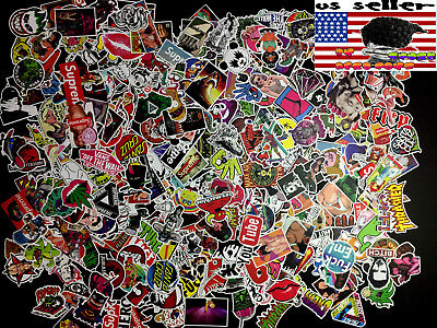 100 New Random Skateboard Stickers bomb Laptop Luggage Decals Dope Sticker Lot