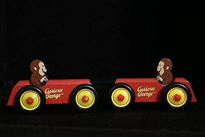 Curious George Schylling Set of 2 Wooden Cars