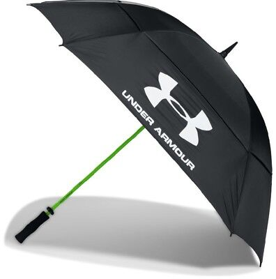 "Under Armour UA Golf Umbrella 68"" Double Canopy Black/Yellow 2017"