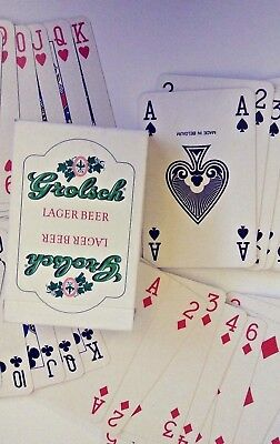 Vintage Grolsch Lager Beer ~ Playing Cards By Carta Mundi Belgium 52