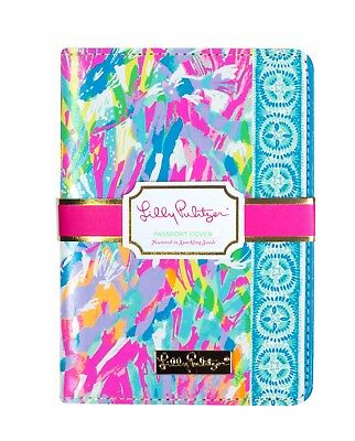 LILLY PULITZER SPARKLING SANDS Passport Cover Travel Card Holder Leatherette NEW