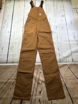 New Reed Brown Duck Bib Overall Unlined Industrial Work Uniform Model#187Bal