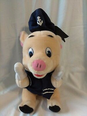 """Pig plush stuffed animal in Navy sailor unifrom Possibly Porky Pig 10"""""""