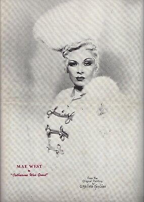 "Mae West ""CATHERINE WAS GREAT"" Ray Bourbon / Michael Todd 1945 Souvenir Program"