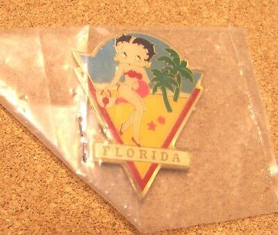 "Betty Boop Florida metal magnet, 2"" tall"