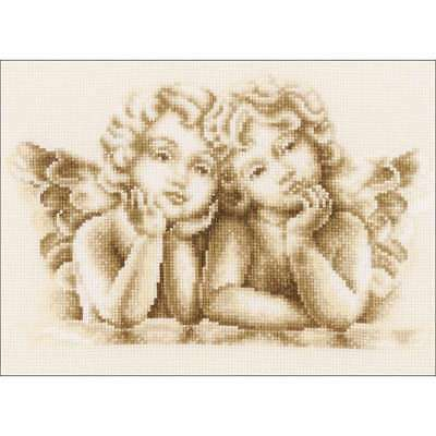"""Dreaming Angels On Aida Counted Cross Stitch Kit 10""""x7.25"""" 14 Cou 499991489770"""