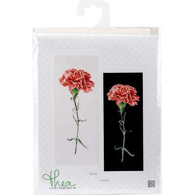 """Carnations Red On Aida Counted Cross Stitch Kit 6.5""""X16.5"""" 18 Cou 499994662057"""