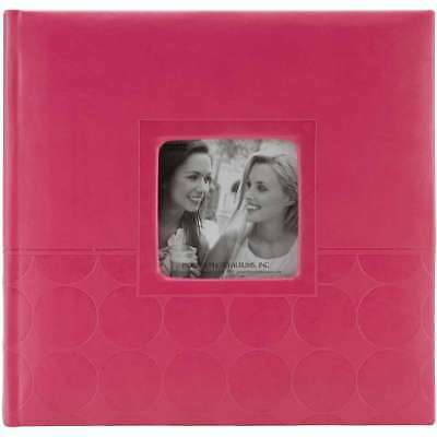 "Pioneer 2-Up Embossed Photo Album 4""X6""  Pink Circles 023602640818"