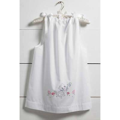 Kitten Pillowcase Dress Stamped For Embroidery Kit Size 3-8 046109477176