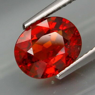 3.08Ct.Outstanding Color! Natural Red Spessartite Garnet Africa Full Fire!