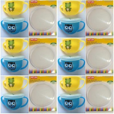 Snack Trap Toddler Spill Free Snack Cups 2 Pack - Frog/Owl with Extra Lid FREE