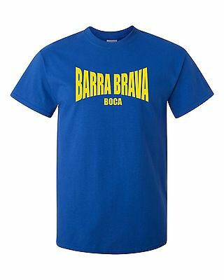 Barra Brava Boca T-Shirt -La 12 Juniors Fans Themed Tee Ultras Torcida Hooligans