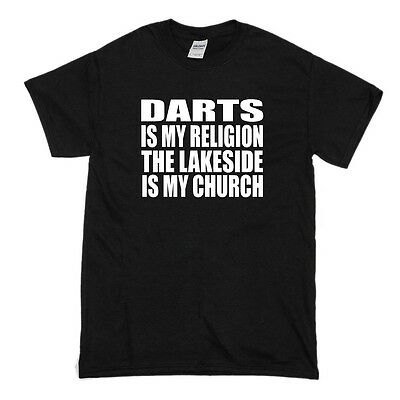 The Lakeside Darts Is My Religion T-Shirt - Bullseye 180