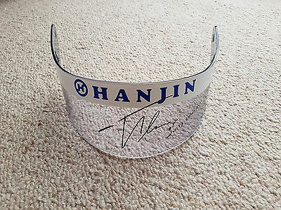 GENUINE FERNANDO ALONSO F1 RACE USED and SIGNED VISOR 2005,  RENAULT WITH COA