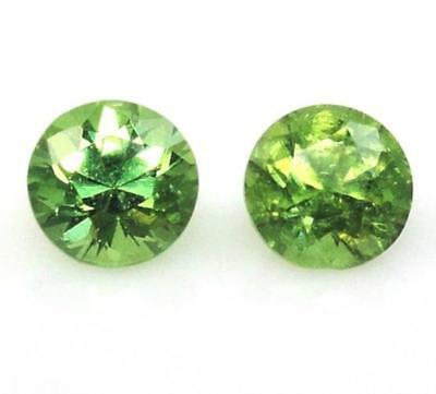2.5mm MATCHED TSAVORITE Round Diamond Cut Pair VS GENUINE LOOSE GEMSTONES (37)