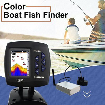 FF918-CWLS Portable Waterproof Boat Fish Finder with Color Screen Display S FG