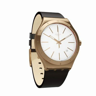 Swatch orologio irony tic-brown data pvd oro YWG405