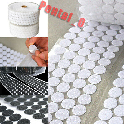 Circle Coins Dots 10-50mm Self Adhesive Coin Hook Loop Stick on tape Discs Round