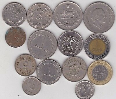 14 Coins From The Middle East In Used To Mint Condition