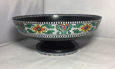 Vintage Losol Ware Footed Fruit Bowl Keeling & Co Staffordshire Chinese Border
