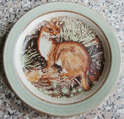 """Purbeck Pottery Otter Plate 6"""" Diameter"""
