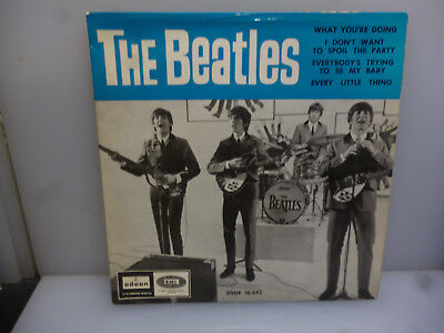 Beatles-What You're Doing+3-Spanish 1964 4Trk 7' Ext. Play Single Vinyl-Ex-/ex.