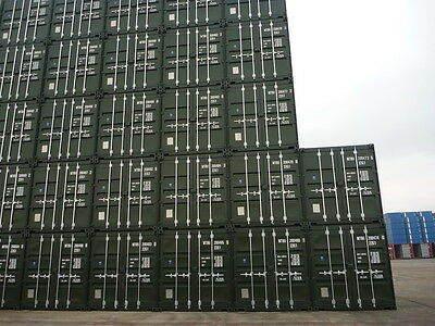 Shipping Containers 20 Ft Ral6007 Green - 2017  Liverpool