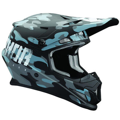 Thor Sector Helm MIDNIGHT MATTE Motocross Enduro MX Simson Motorrad Moped