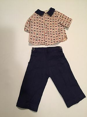 "Vintage 16"" Doll Clothing Jerri Terri Lee  tagged Nautical Print Outfit"