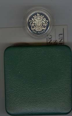 Boxed 1983 Piedfort Silver Proof Pound With Certificate