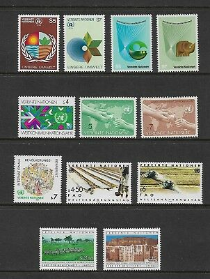 UNITED NATIONS, Vienna - mint, 1982-1984 sets & singles, MNH MUH