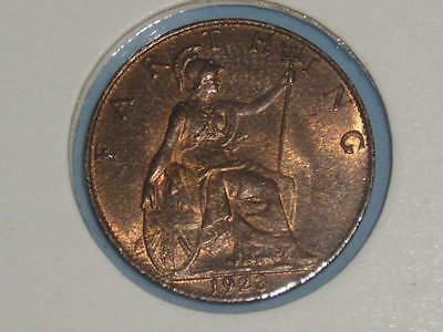 Gb George V Farthing 1923 High Grade Only £4.50 With Free Uk P&p (206