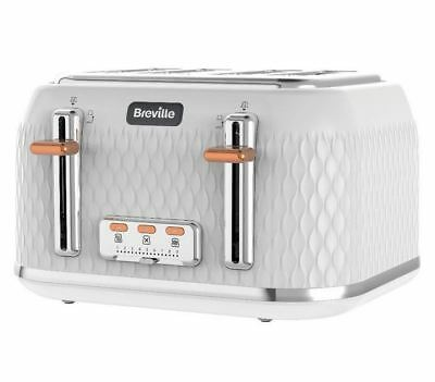 Breville VTT787 Curve 4 Slice Four Slot Toaster White & Rose Gold RRP£79