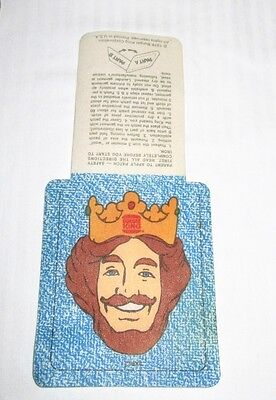1976 Unused Burger King The King Iron-On Patch