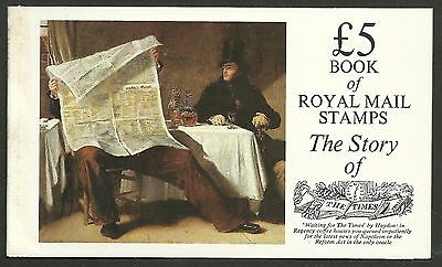 "Great Britain £5 Booklet ""the Story Of The Times""     Sg Dx6 - 1M"