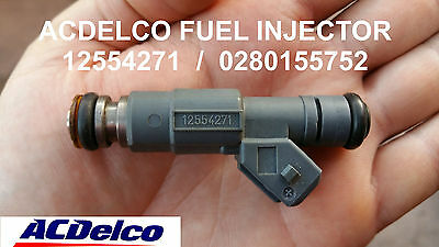 8 Used Acdelco 12554271 / 0280155752 28 Lbs Fuel Injectors For Ls1